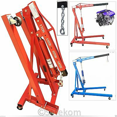 1 Ton Professional Mechanic Hydraulic Folding Engine Crane Stand Hoist Lift Jack