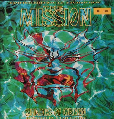 "The Mission(Etched 12"" Vinyl P/S)Shades Of Green-Vertigo-MTYH 1412-UK-1-Ex+/M"