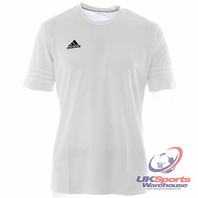 adidas Entrada 14 Adults Football Soccer Shirt Jersey Climalite White rrp£20