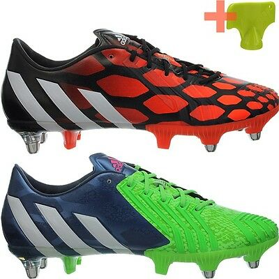 Adidas Predator Instinct SG red green Men's Rugby / Soccer Boots Shoes New