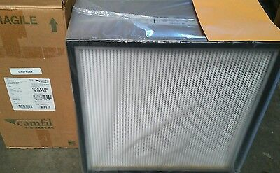 Camfil 24 x 24 x 11-1/2 Nuclear Grade HEPA Air Filter 1100 CFM Single Gasket