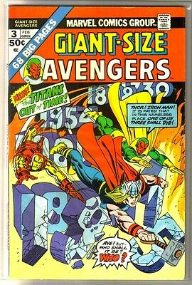 Giant Size AVENGERS #3 Titans Out of Time! Marvel Comic Book ~ VG/FN