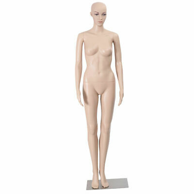 Goplus Female Mannequin Plastic Realistic Display Head Turns Dress Form w/ Base
