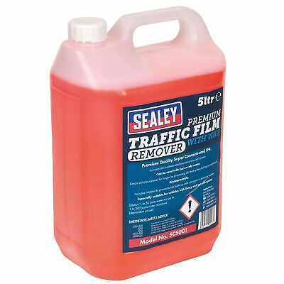 Sealey Concentrated TFR Traffic Film Remover Premium Detergent/Wax 5ltr - SCS001