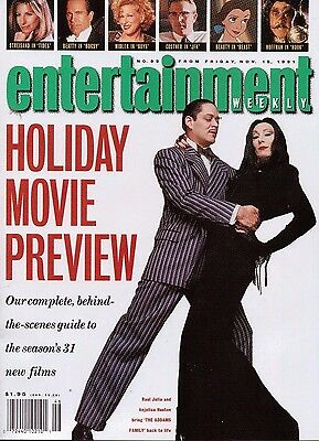 Entertainment Weekly #92/Addams Family/Holiday Movie Preview/Hook/Raul Julia
