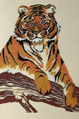 British Made Punch Needle Embroidery Large Tiger Kit with yarns by Webster
