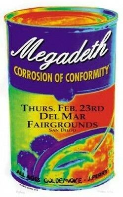 San Diego Megadeth Corrosion Of Conformity Rock Poster