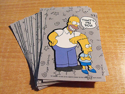 Simpsons 1990 Complete Set Of 22 Stickers