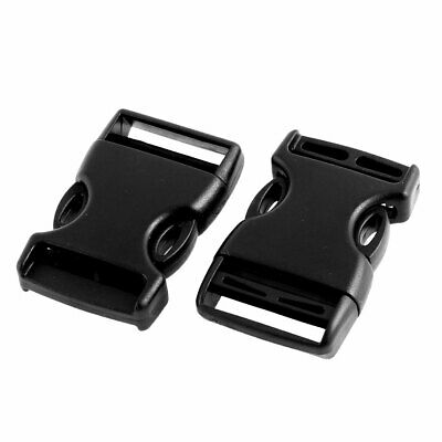 Pack Bag Plastic Replacement Side Quick Release Buckle 2.5cm Width Strap 2pcs