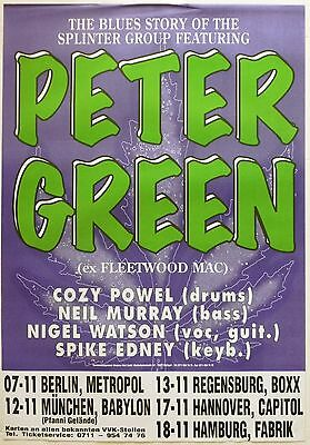 PETER GREEN SPLINTER GROUP GERMAN CONCERT TOUR POSTER- Fleetwood Mac