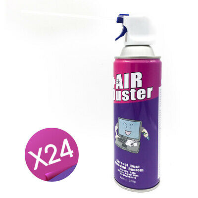 24x Compressed Air Duster Can Cleaner 400ml For Notebook Laptop PC Keyboard