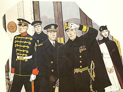 Druck 41 x 51 cm Uniforms of the UNITED STATES NAVY 1941