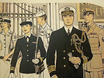 Druck 41 x 51 cm Uniforms of the UNITED STATES NAVY 1961