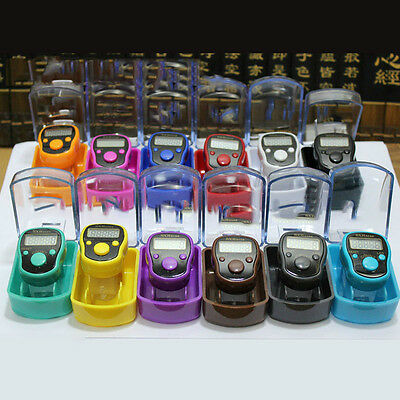 12 Colors LED Display finger ring hand tally digital counter Timer 5 digits
