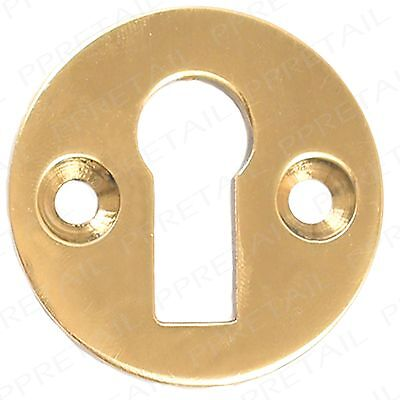 Brass 35mm +VICTORIAN STYLE+ Escutcheon Key Hole Front Door Plate Cover Polished