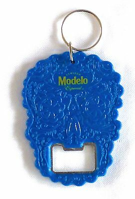 "Modelo Day of the Dead Keychain Bottle Opener Dia de los Muertos 3"" x 2.25"" NEW"