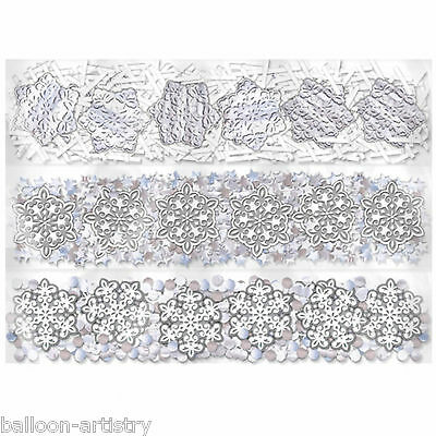 Elegant White Snowflakes Christmas Party Confetti Table Sprinkles Triple Pack