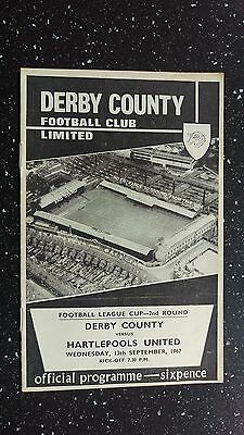 Derby County V Hartlepools United 1967-68