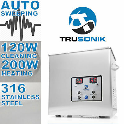 TRUSONIK Stainless Steel 2.5L Heated Ultrasonic Cleaner Heater Timer Jewelry 3 %