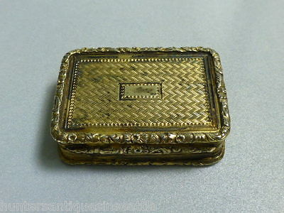 Antique 1825 William Edwards Sterling Silver Georgian Vinaigrette - Gold Wash