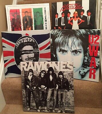 """4 Different  Album Covers Canvas Print 15""""x15"""" On A Wooden Stretcher Frame"""
