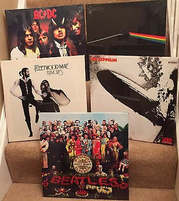 """5 Different  Album Covers Canvas Print 15""""x15"""" On A Wooden Stretcher Frame;"""