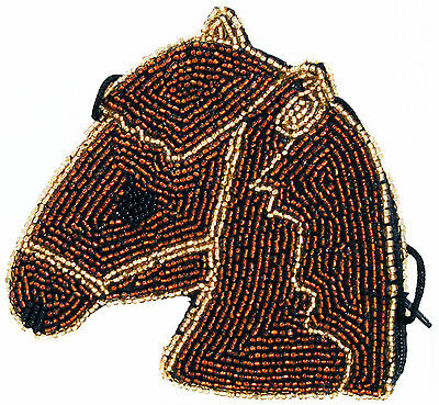 Horse Beaded Coin Purse Ladies Wallet Cross Body Strap