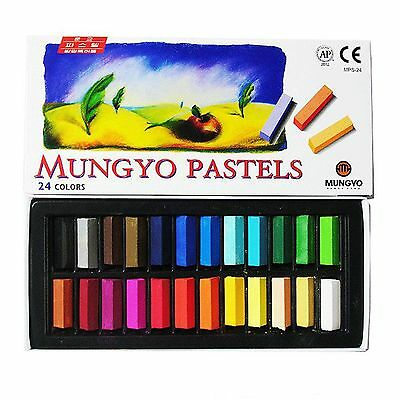 Mungyo Non Toxic Soft Pastels Set of 24 Colors Square Chalk with Tracking Number