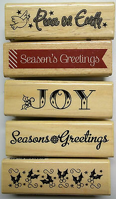 Assorted Christmas Stamps 1 x 3 Inches Wood-mounted Rubber Your Choice $1.50 New