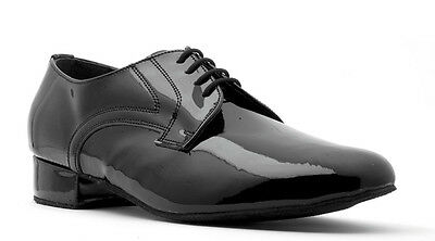 Mens Black Leather Patent Nubuck Ballroom Latin Dance Shoes V202 By Topline Katz