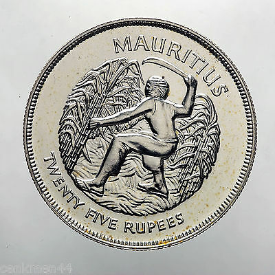MAURITUS 25 Rupees 1977 Silver