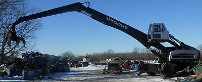 Exodus MX 447 material handler - crane , orange peal grapple, scrap- log loader