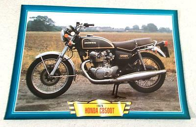 Honda Cb500T Cb500 T Twin Vintage Classic Motorcycle Bike 1970's Picture 1975