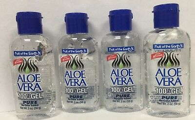 4x Fruit of the Earth 100% Pure Aloe Vera Gel 56g (156g) Cooling Sunburn Face