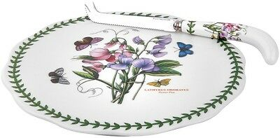 Portmeirion Botanic Garden Cheese Plate With Cutter Set - Brand New/boxed