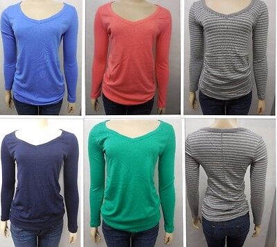NEW Gap Womens Maternity The Bowery Super Soft V-Neck Ruched L/S Tee T-Shirt