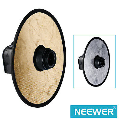 """Neweer 12"""" 2-in-1 Portable Circular Collapsible Lens-Mount Light Reflector"""
