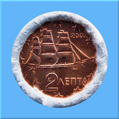 2   Euro - Cent - Rolle - Münzrolle - Griechenland 2002