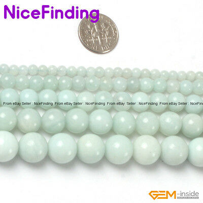 Natural Round Amazonite MutilColor Gemstone Beads For Jewelry Making In Bulk DIY