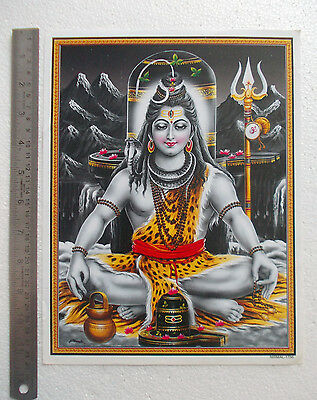 """LORD SHIVA in Meditation - Normal Paper POSTER (9""""x11"""")"""