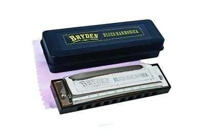 "Bryden Diatonic ""Blues"" Harmonica, Key of G *NEW* mouth organ, harp, 10 hole"