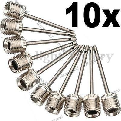 10x Boule Gonfleur Pompe Aiguille Rugby Football Volley Basket-Ball Adaptateur