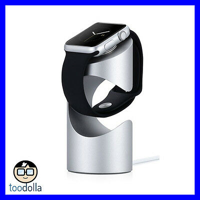Just Mobile TimeStand - aluminium desktop charging pedestal, Apple Watch, Silver