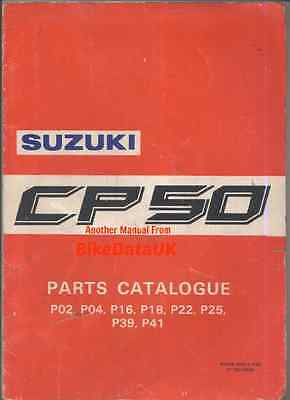 Suzuki CP50 (1985-on) Fully Illustrated Parts List/Catalogue CP 50,Moped,CA-14