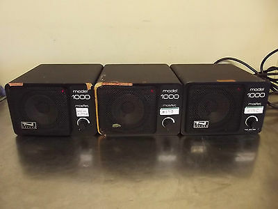 Lot of 3 Anchor Model AN-100 Powered PA Speakers-Tested & Working Good-m771