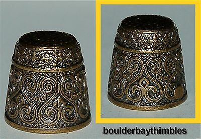 RUSSIAN Bronze-Brass SMALL EMBOSSED HEART DESIGN Thimble NEW