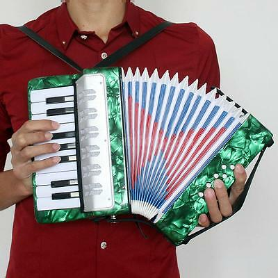 Small 17-Key 8 Bass Accordion Educational Musical Toy for Kid Gift Green EA37