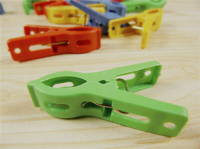 Set of 20 Beach Towel Clips in Fun Bright Prevents Towels Blowing Away