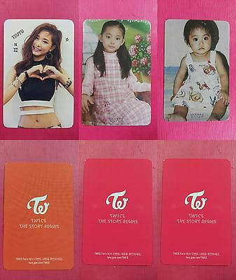 LOT OF 3 TWICE TZUYU Official Photocard Full Set 1st Album The Story Begins