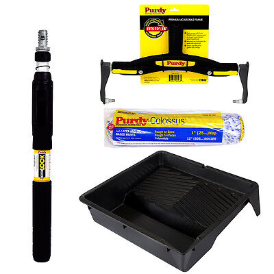 Purdy Adjustable Frame Colossus Sleeve PowerLock Pole 1-2ft Paint Roller Tray